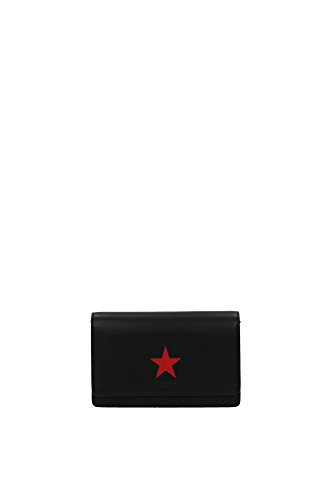 clutches-givenchy-women-leather-black-and-red-bc06250655009-black-4x12x185-cm