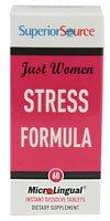 Superior Source Just Women Stress Formula -- 60 Microlingual Tablets