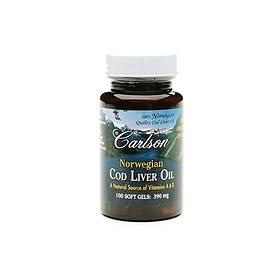 (新品)Carlson Labs Norwegian Cod Liver Oil卡尔森挪威鳕鱼肝油390mg S&S $ 7.60