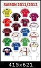 Am Ball Com DFL Up-Date-Set Hometrikots 1 Bundesliga 2011-2012