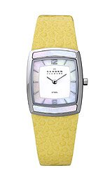 Skagen Steel Collection White Dial Women's Watch #855SSLY
