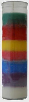 Religious Candles 8 in Seven Color. Case of 12