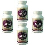 4 ~ Perfect Acai ~ EarthFruits Organic Berry, 129 capsules