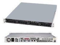 Supermicro SuperServer LGA1155 Xeon 1U Server Barebone System, Black SYS-5017C-MTF