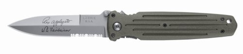 Gerber 22-41608 Applegate Combat Folder Double Edge Serrated Knife, Foliage Green