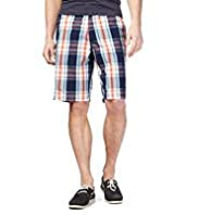North Coast Pure Cotton Checked Shorts