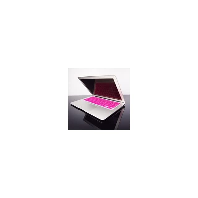 TopCase HOT PINK Keyboard Silicone Cover Skin for Macbook AIR 13 A1369 from Late 2010   Mid 2011(JULY) with TOPCASE? Logo Mouse Pad