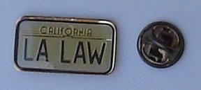 L A Law Promo Enamel Pin