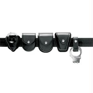 Safariland Duty Gear Hidden Snap Flap Top Double Handcuff Pouch (Basketweave Black)