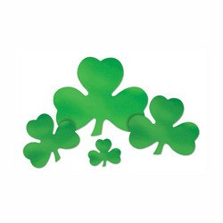 Foil Shamrock Cutout Party Accessory (1 count) - 1
