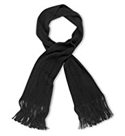 M&S Collection Cashmilon™ Knitted Tassel Trim Scarf