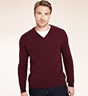 XXXL Blue Harbour Pure Lambswool V-Neck Knitted Jumper