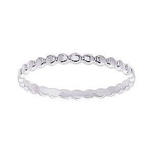 So Chic Jewels - 9k White Gold 2 mm Fantasy Pattern Wedding Band Ring
