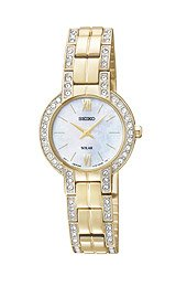 Seiko Solar with Swarovski® Crystal Gold-Tone Women's watch #SUP200