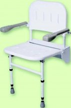 Folding Shower Seat With Legs, Back And Arms