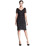 Autograph All-Over Floral Lace Dress