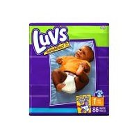 Luvs Mega Pack -86 Diapers - Size 1