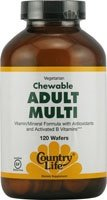 Country Life Chewable Adult Mutli With Antioxidants And Activated B Vitamins, 120-Wafers