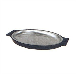 Winco SIZ-11B Stainless Steel Rectangular Sizzling Platter, 11-Inch