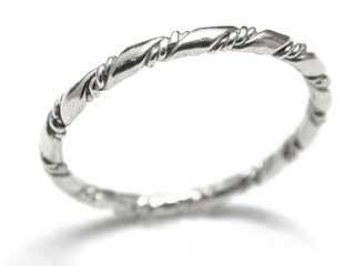 14k White Gold Rope 1.65m Band Size 5