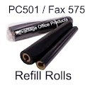 Compatible Brother PC502RF Thermal Fax Ribbon Refill Rolls (2pk) for Brother Fax 575