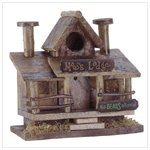 Moose Lodge Wood Birdhouse Bird House Perch Porch Rails