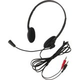 Califone 3065Av Lightweight Headset Mic 3.5Mm 6Ft Via Ergoguys - Stereo - Black - Mini-Phone - Wired - 32 Ohm - 20 Hz - 20 Khz - Over-The-Head - Binaural - Semi-Open - 6 Ft Cable - Electret Microphone