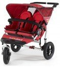 Out n About Double Nipper 360 v2.1 TWIN Baby Pushchair in Red