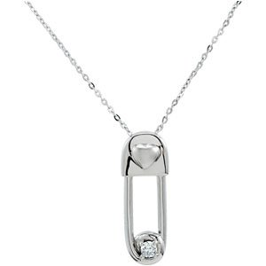 925 Sterling Silver Safe In My Love Pendant & Chain WPkg
