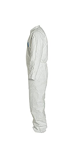DuPont Tyvek 400 TY120S Disposable Protective Coverall, White, 2X-Large, pack of 25