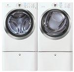 Electrolux Laundry Bundle | Electrolux EIFLS60JIW Washer & Electrolux EIMGD60JIW Gas Dryer w/Pedestals - White