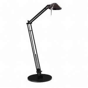 Ledu L460BK Concentrolite Halogen Desk Lamp Tiered Shade Weighted Base 34 Arm Reach