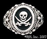 Sterling Silver Pirate Signet Ring