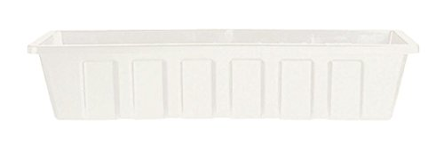 Novelty 02182 Polypro Plastic Flower Box Planter, White, 18-Inch Length (Plastic Flower Box compare prices)
