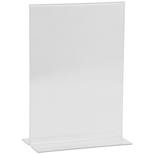 Vertical Easel Style Clear Plastic Sign Holder Phot Frame 7