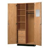 "Diversified Woodcrafts 360-3622 Solid Oak Wood Wardrobe Storage, 36"" Width x 84"" Height x 22"" Depth"