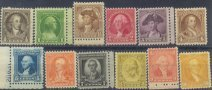 USA Collectible Postage Stamps: 1932 Washington Bicentennial Issue. SC 704-15. Mint Non Hinged