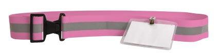 Re-Flex Safety Reflex Belt w/ ID Holder (Pink)