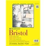 Pro-Art Strathmore Bristol Smooth Paper Pad, 9 by 12-Inch, 20 Sheets