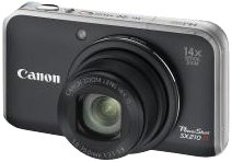 Canon PowerShot SX210 IS Digitalkamera (14 Megapixel, 14-fach opt. Zoom, 7.6 cm (3 Zoll) Display) schwarz
