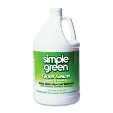 Simple Green Products - Carpet Cleaner, Deodorizes, Nonionic/Biodegradable, 1 Gallon - Sold as 1 EA - Professional strength carpet and upholstery cleaner is designed for use with industrial cleaning machines. Cleaner deodorizes as it removes tough stains from motor oil, coffee, blood, lipstick, and more. Nonionic, biodegradable cleaner is suitable for hot water extraction and steam carpet cleaners.