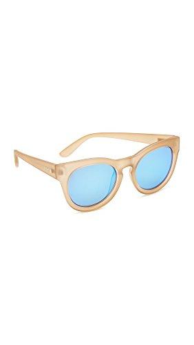 Le Specs Women's Jealous Games Sunglasses, Raw Sugar/Ice Blue, One Size