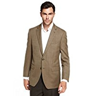 Sartorial Pure Wool 2 Button Checked Slim Fit Jacket