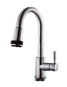 Designer Ceramic Pull Out Kitchen Faucet Brushed Nickel Finish