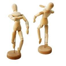 木製 デッサン 人形 20㎝ 2体セット 14の関節で多彩なポーズを再現! スケッチ デッサン インテリアに!!