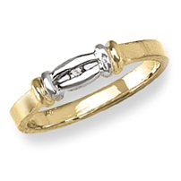 14k Yellow Gold – Cubic Zirconia Heart – Baby/Children's Ring