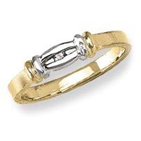 14k Yellow Gold – Cubic Zirconia Heart – Baby/Children's Ring