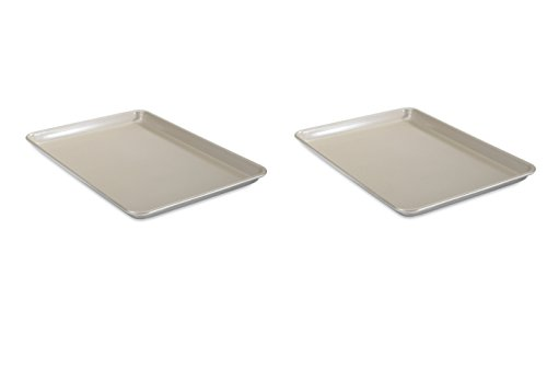 Aluminum Nonstick Commercial Half Sheet Set of Two (Nordic Ware Half Sheet Baking Pan compare prices)