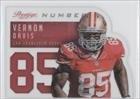Vernon Davis San Francisco 49ers (Football Card) 2014 Panini Prestige Behind the Jersey Numbers #2