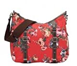 OiOi Changing Bag - Red English Rose Classic with Buckle detail